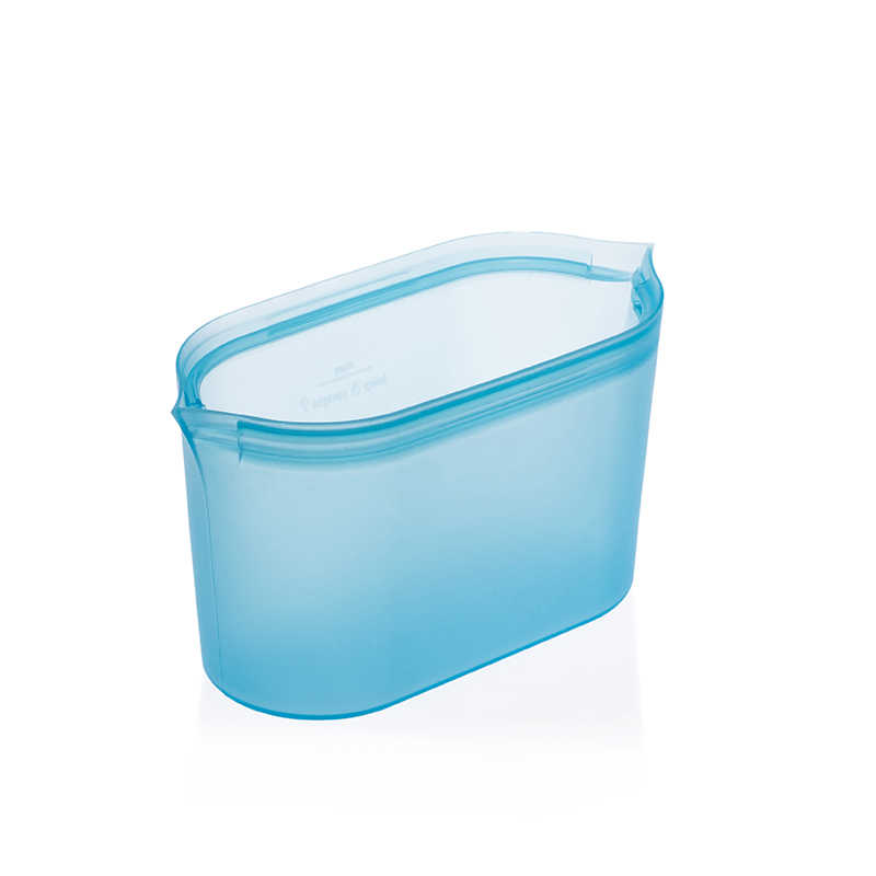 Zippware New Reusable Food Storage Bag Dish Leakproof Silicon Containers Stand Up Stay Open Zip Shut