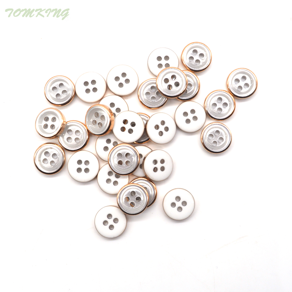 60pcs/lot gold silver 4-Holes round Button 12mm resin button plastic cloth buttons sewing accessory scrapbooking Free shipping