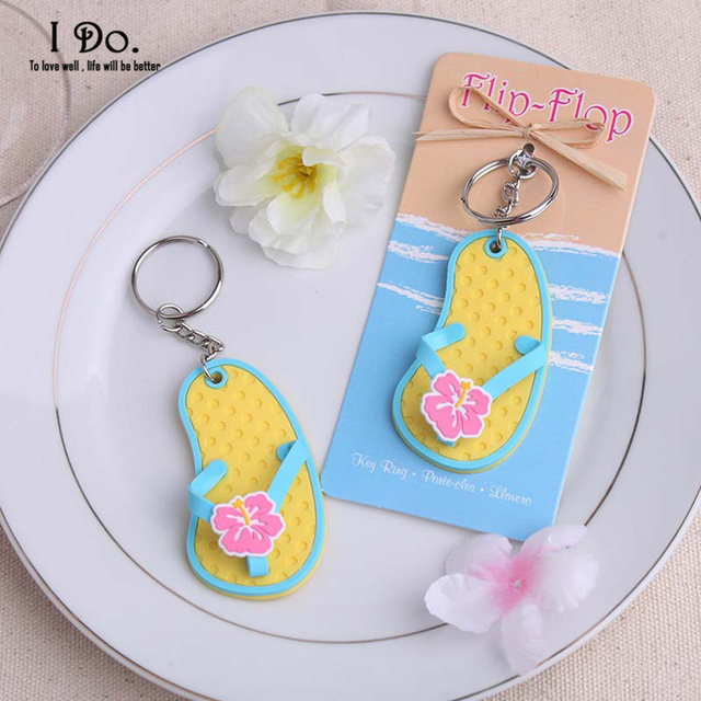 Free Shipping Flip Flop Keychain Wedding Favors And Gifts Souvenirs Supplies Baby Shower