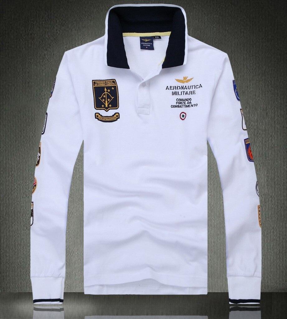 New Brand Men   Polo   Shirt AERONAUTICA MILITARE cotton long sleeve man   polo   shirt Casual fashion Air force one tops