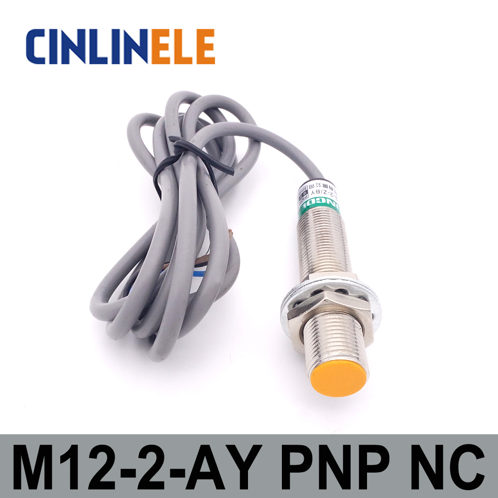 M12 LJ12A3-2-Z/AY 2mm 6V-36V induction DC PNP NC metal sensor inductive proximity switch Screen shield type LJ8A3 sensor switch