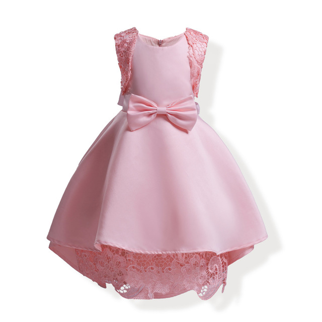 bow lace ball gown little baby girl party dress sleeveless blue ...