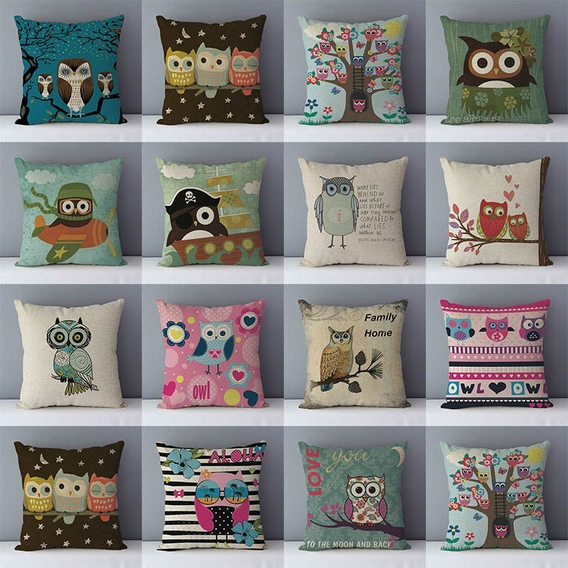 Modern Cartoon Cushion For Couch Home Decorative Pillows Cute Animals Printed Kids Room Decoration Pillowcase 45x45cm Cushions