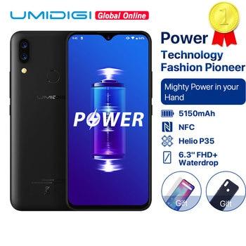 "UMIDIGI Power 5150mAh 18W Fast Charge Android 9.0 4GB 64GB 6.3"" FHD+ Global Version Smartphone Dual Helio P35 2.3GH Dual 4G 16MP 1"