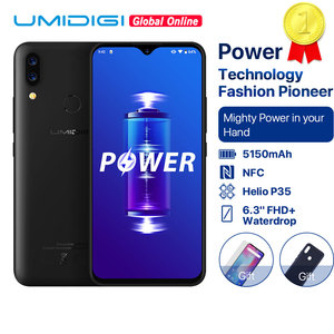 "Image 1 - Umidigi Power 5150 Mah 18W Snelle Lading Android 9.0 4 Gb 64 Gb 6.3 ""Fhd + Global Versie smartphone Dual Helio P35 2.3GH Dual 4G 16MP"