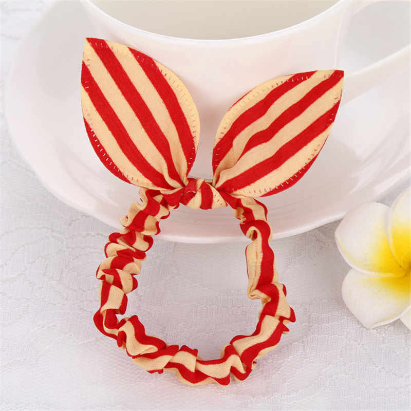 3Pc/Set Wholesale New Style Women Girls Cute Rabbit Ears Elastic Ponytail Holder Hair Ropes Rubber Bands Hair Accessories