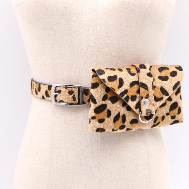 Luxury Brand Leather Waist Packs Women Fanny Pack Leopard Waist Belt Bag Travel Waist Pack Small Phone Pouch Bags Wholesale