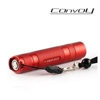 Convoy S2 + Cree XM-L2 U2-1A светодиодный светильник фонарь  фонарь  Самозащита  Кемпинговый светильник  лампа  для велосипеда фонарь-красный