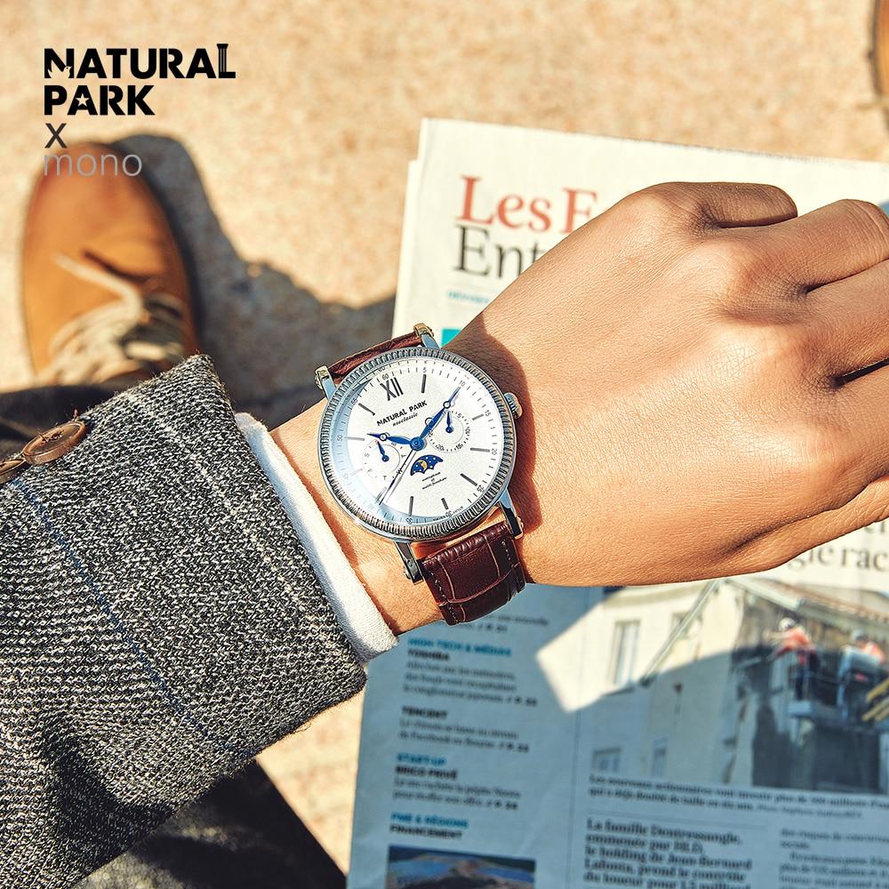 relogio masculino NATURAL PARK Mens Watches Top Brand Luxury Fashion Business Quartz Watch Men Sport Waterproof