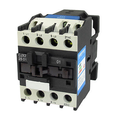 24V Coil Motor Controler AC Contactor 3P DIN Rail NC 660V 11KW CJX2-2501 best quality ac contactor cjx2 150 150a 3p used for ac motor