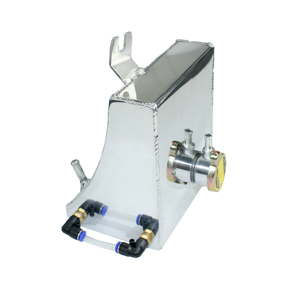 CNSPEED 240SX S13 SR20DET KA24DE KA24E KA24 Aluminum Coolant Overflow Tank Reservoir Kit For Nissan (Fits: 240SX) TT100946 SL