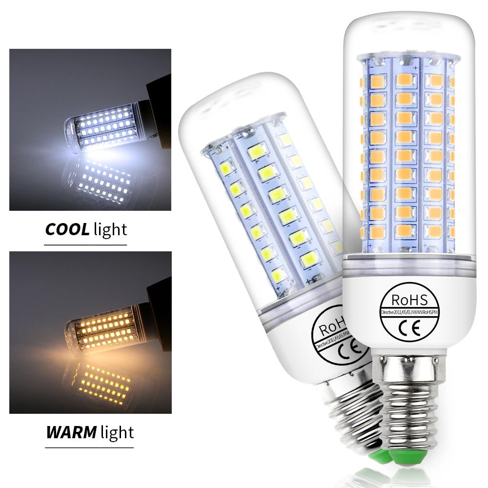 E27 LED Corn Bulb 220V Ampul E14 LED Lamp 2835 SMD 5730 Led Bulb High Brightness 24 36 48 56 69 89 102leds Candle Light For Home