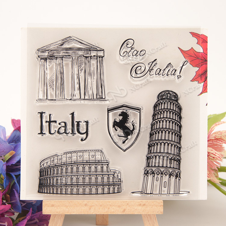 Famous architecture of Italy Postage stamp DIY Scrapbook Transparent Rubber Stamp Seal ball architecture