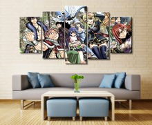 FAIRY TAIL Anime 5 Piece HD Print Home Painting Wall Art Canvas Art For Living Wall Art Painting Modern Decorative Artwork цена