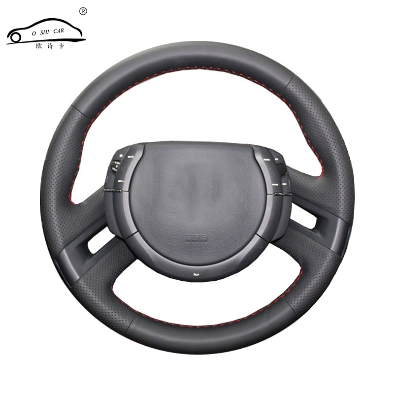 Artificial Leather car steering wheel braid for Citroen C4 Picasso 2007-2013/Custom made Steering cover