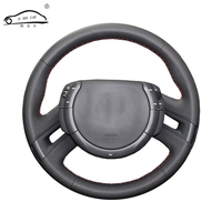 Artificial Leather car steering wheel braid for Citroen C4 Picasso 2007 2013/Custom made Steering cover