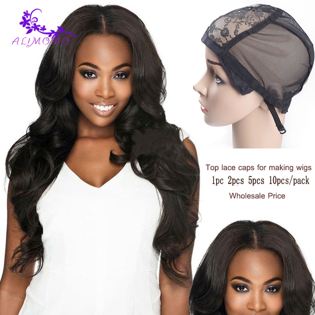 2018 Newest 1 10pcs Lace Wig Caps For Making Wigs Hot Black Dome