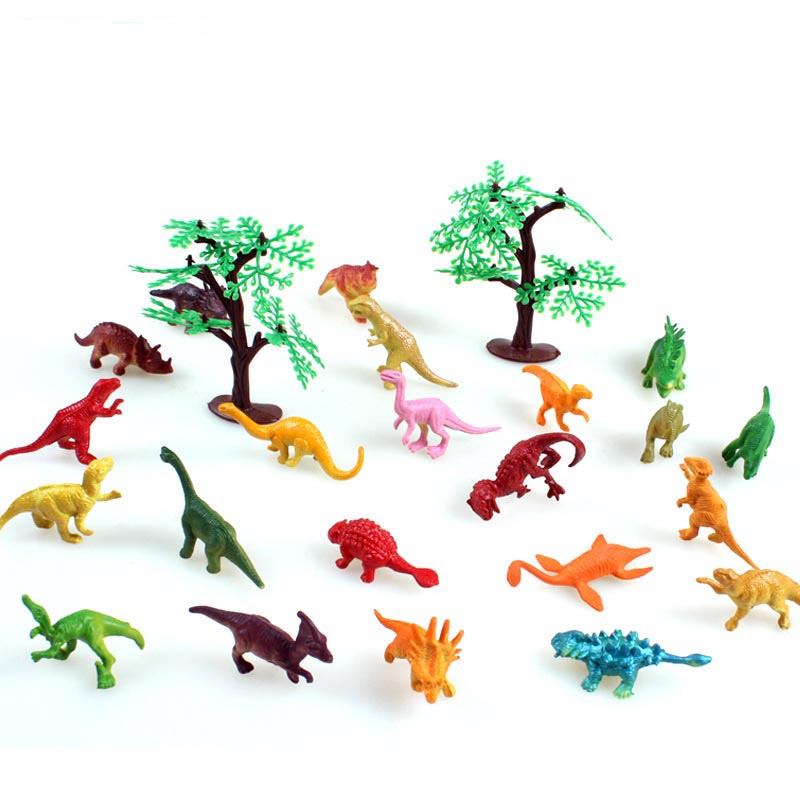 Toys & Hobbies Discreet 22pcs/set Static Simulation Dinosaur Suit Animal Tree Identification Pvc Model Classic Toys Christmas Gift Holiday Gifts