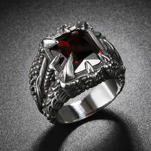 Anillo de garra de dragón Retro, joyería guay para hombres, anillo de acero inoxidable 316L con circón, anillo Punk Hiphop, accesorios de joyería para hombre, regalos de fiesta