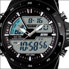 50M Waterproof Mens Sports Watches Men Silicone Sport Watch Shockproof Electronic Wristwatch