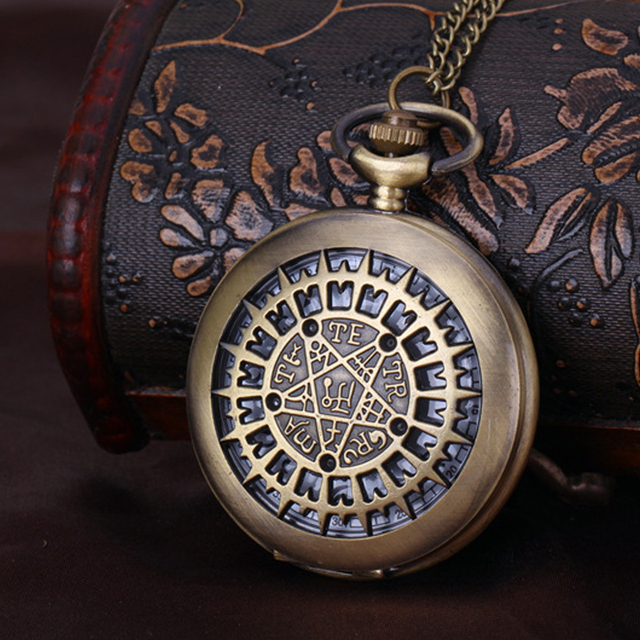 Large Creative Necklace Pocket Watch Casual Fashion Wild Couple Pocket Watch Eur