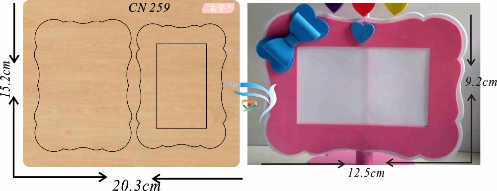 Pink photo frame new wooden mould cutting dies for scrapbooking Thickness 15 8mm