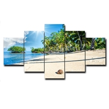 Laeacco Canvas Calligraphy Painting 5 Panel Tropical Palm Tree Poster and Print Wall Art Picture for Living Room Home Decoration laeacco canvas calligraphy painting abstract 5 panel unicorn wall art animal poster and print nordic home living room decoration