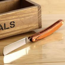 Barber Razor Folding Shaving Knife Straight Edge Stainless Steel Wood Handle Barber Razor Folding Shaving Knife Kit #719 недорого