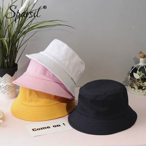 Sparsil Summer Bucket Hat Women Cotton Fishing Cap Men Sun