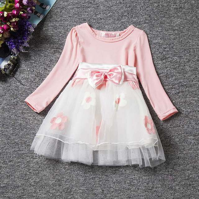 834d7dd43d074 US $6.15 28% OFF|Girl Long Sleeve Dress Cotton for Infant Baby Winter  Princess Baby Girl Lace A line Dresses autunno bimba Casual Clothing 0  24M-in ...