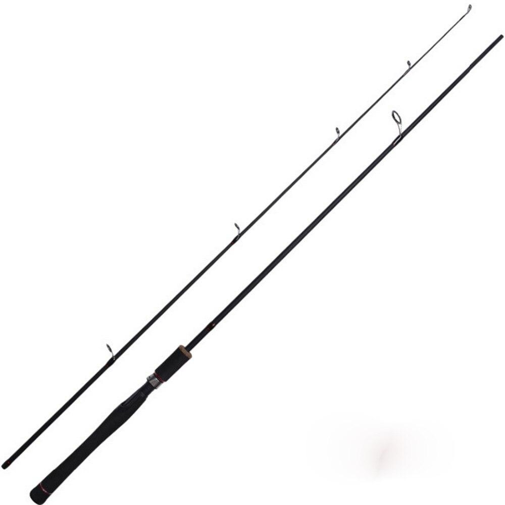 Tige de pêche rotative Ultra légère en Graphite de 2 pièces avec Action rapide de puissance moyenne