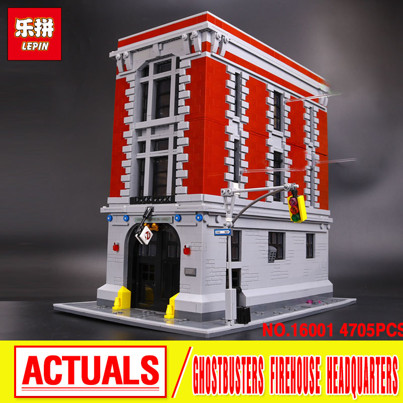 4705Pcs  New LEPIN 16001 Genuine Ghostbusters Firehouse Headquarters Model Building Kits Model set  Compatible  75827 lepin 16032 586pcs new genuine movie the ghostbusters ecto 1