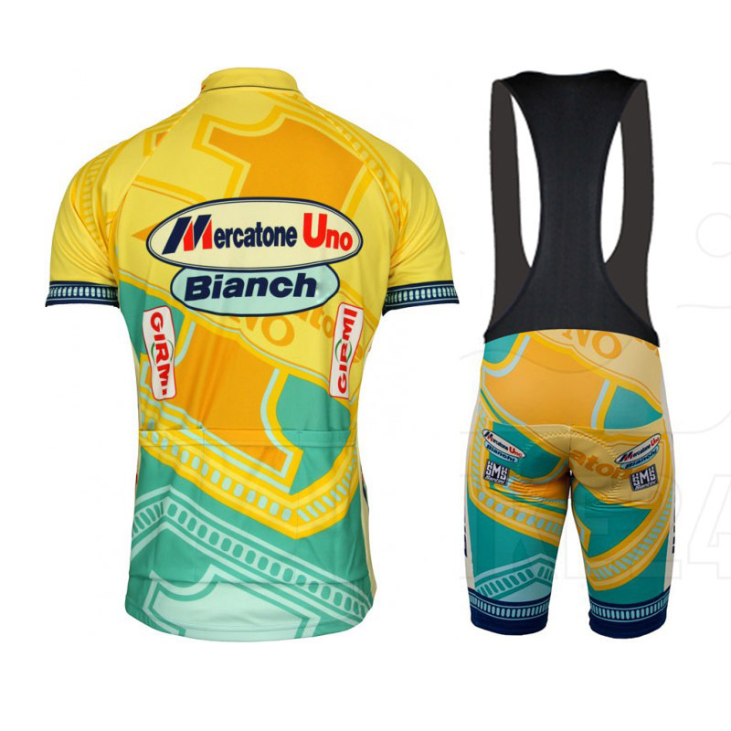 SUMMER new 2015 Santini Team Mercatone Uno Short Sleeve Cycling Jersey  Bicycle Bicicletas Mountain Bike MTB Ropa Ciclismo Sets-in Cycling Jerseys  from ... 29c8ea1c0