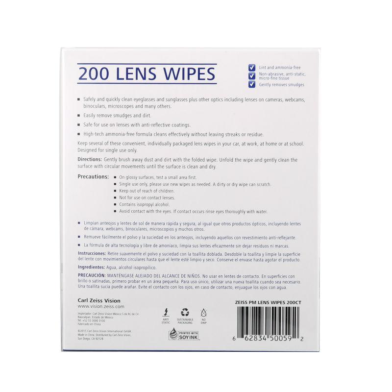 Zeiss Pre-moistened Lens Wipes Cleaning for Eyeglass Lenses Sunglasses Camera Lenses Cell Phone Laptop Lens Clothes 200pcs