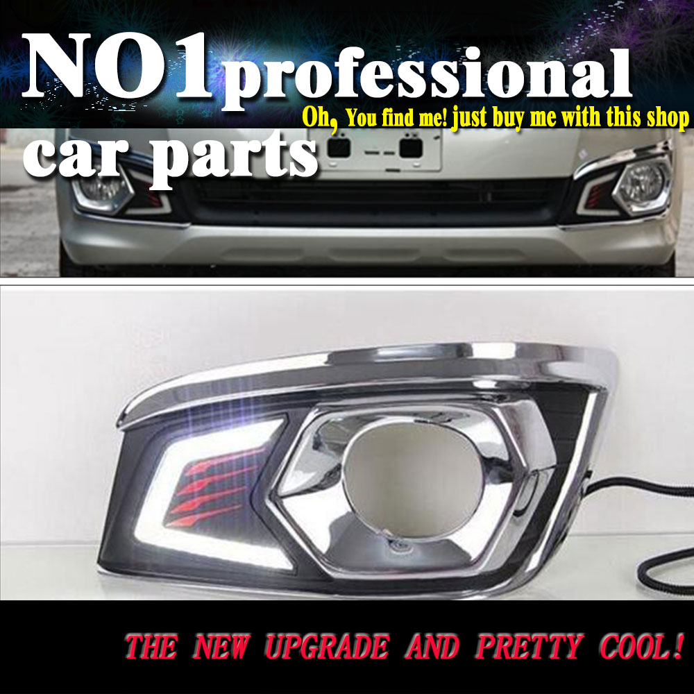 car styling 2012 2013 2014 2015For Toyota Fortuner LED DRL led fog lamps daytime running light High brightness guide LED DRL for lexus rx450h awd 2010 2013 car styling led light emitting diodes drl fog lamps