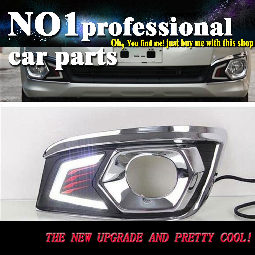 Car styling 2012 2013 2014 2015for toyota fortuner led drl led fog lamps daytime running light