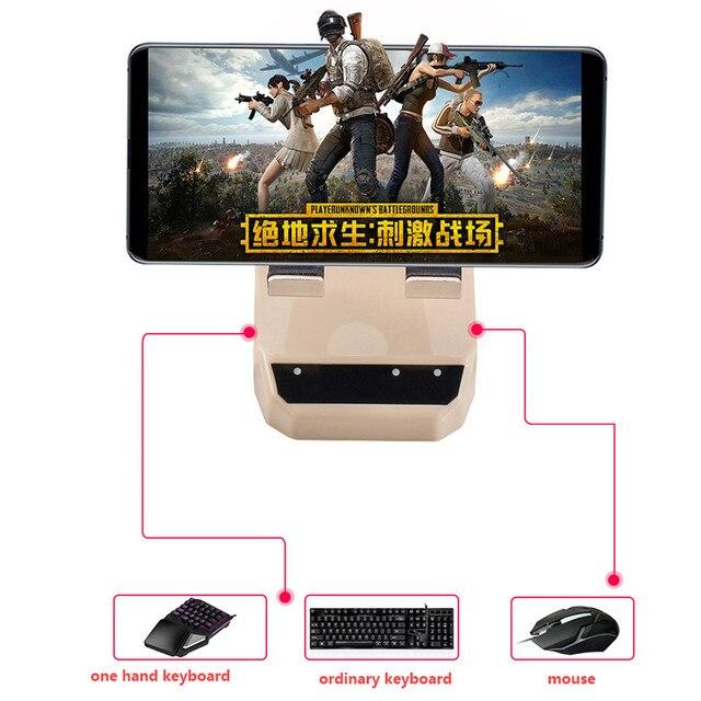 Nirkabel Bluetooth Keyboard Mouse Converter untuk Android IOS Tabel PC Remote Kontrol Game Ponsel Holder Stand Pubg Permainan