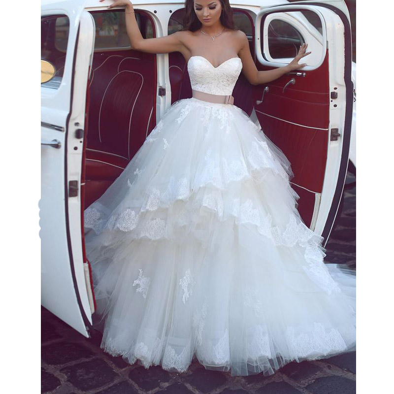 Brown And White Wedding Dress Ideas