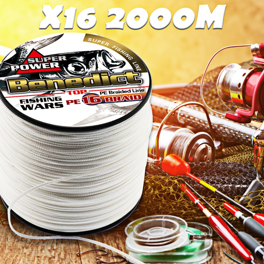 hollowcore braided fishing line 2000M resistant long line for sea Ocean Boat Fishing ice thread spliced