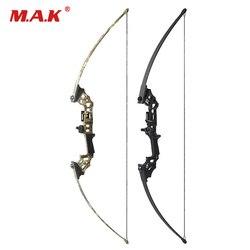 40lbs изогнутый лук с 12 стрелами для правой руки, прямой лук для стрельбы из лука, охотничий лук для стрельбы, охоты, игры, спорта на открытом во...