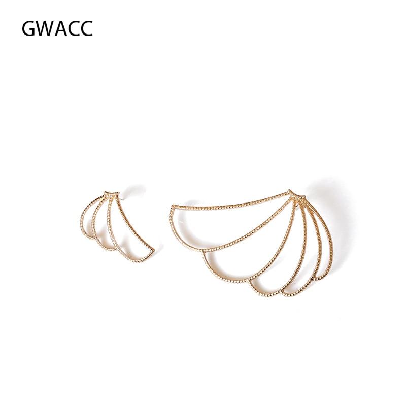 GWACC 2019 Creative Banana Stud Earrings For Women Free Combination Big Minimalist Design Long Funny Fashion Jewelry