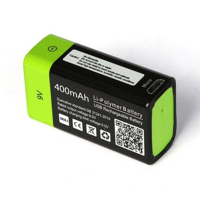 ZNTER Ultra-Efficient 9V 400mAh USB Rechargeable 9V Lithium Polymer Battery For RC Camera Drone Accessories 5