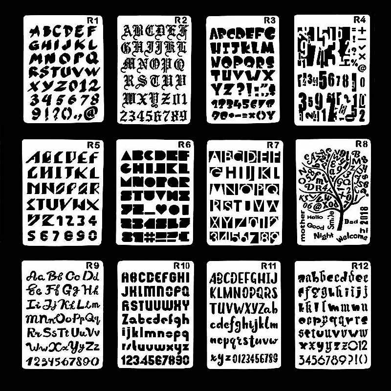 Special English Letters Stencils For Diy Scrapbooking