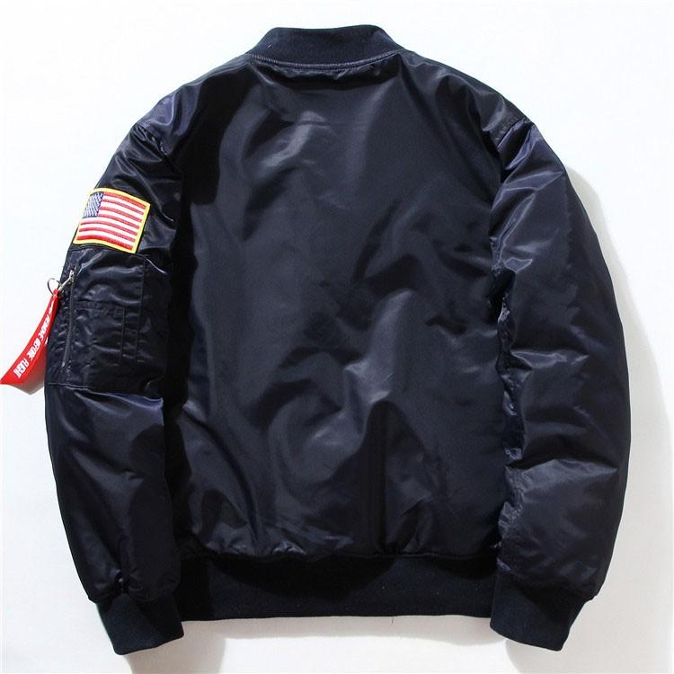 Men Bomber Jackets Flight Pilot Jacket Coat Nasa Air Force Embroidery Baseball Uniform Military Style Coats Army Green Black (6)