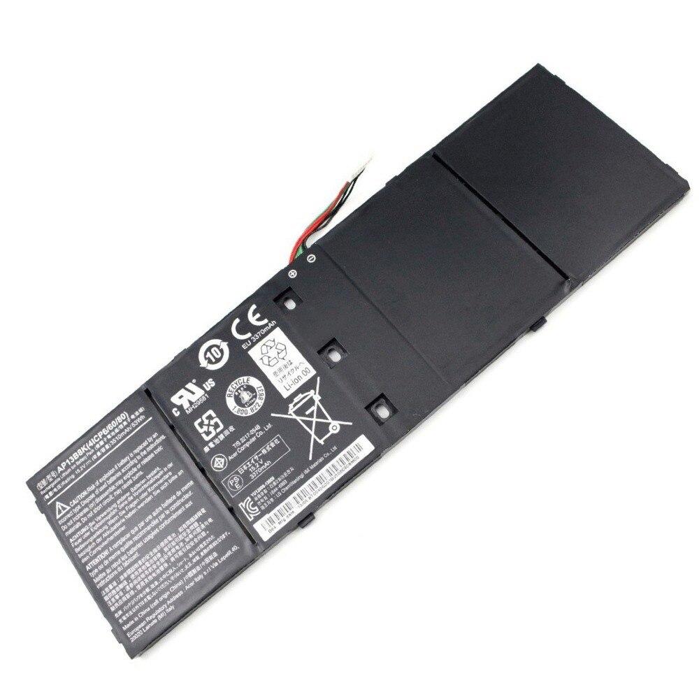 New 3560mAh Genuine Original AP13B3K AP13B8K Battery For Acer Aspire R7 V5 R7-571 M5-583 V5-572P V5-573G V5-437 series Laptop new 15 6 for acer aspire v5 571 v5 571p v5 571pg v5 531p touch screen digitizer glass replacement frame