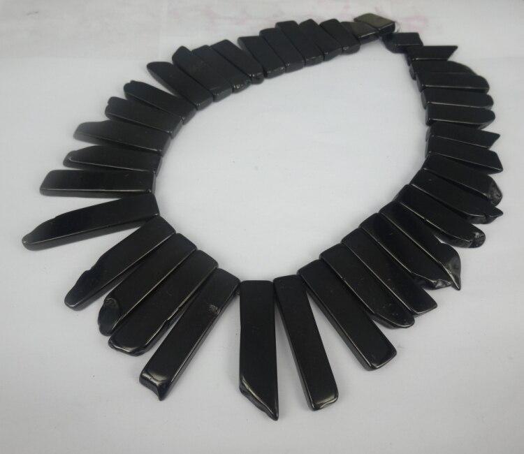 Nature Black Lemon Jade Pendant Gems Point Necklaces Druzy Pendant Beads Jewelry For Art Lady