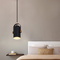 LED Creative Lights for Bar coffee shop Simple Spotlight Scandinavian Creative Personality Black Bedroom Small Candelier
