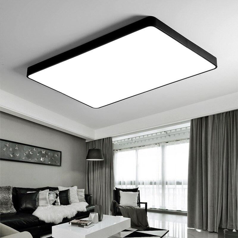 Современная Модная креативная домашняя квадратная потолочная Светодиодная лампа 60 Вт 48 Вт 80 Вт, светодиодная лампа с дистанционным управле