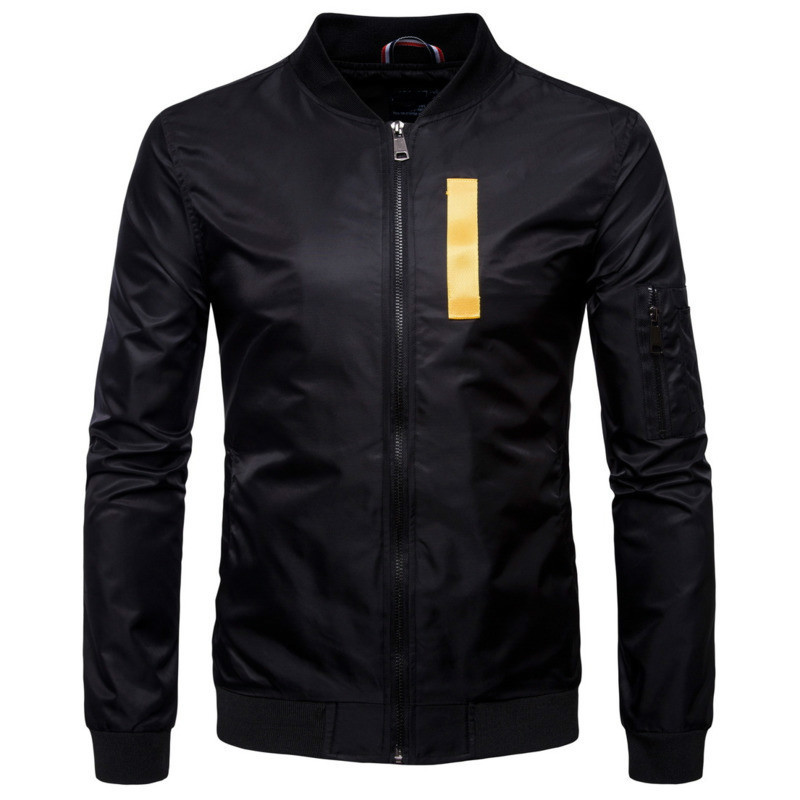FDWERYNH 2018 Men Hip Pop Bomber Jacket Jackets Men Long Sleeve V-Neck Stand Turtleneck Floar Dot Fast Drying Jackets Men Jaket ...
