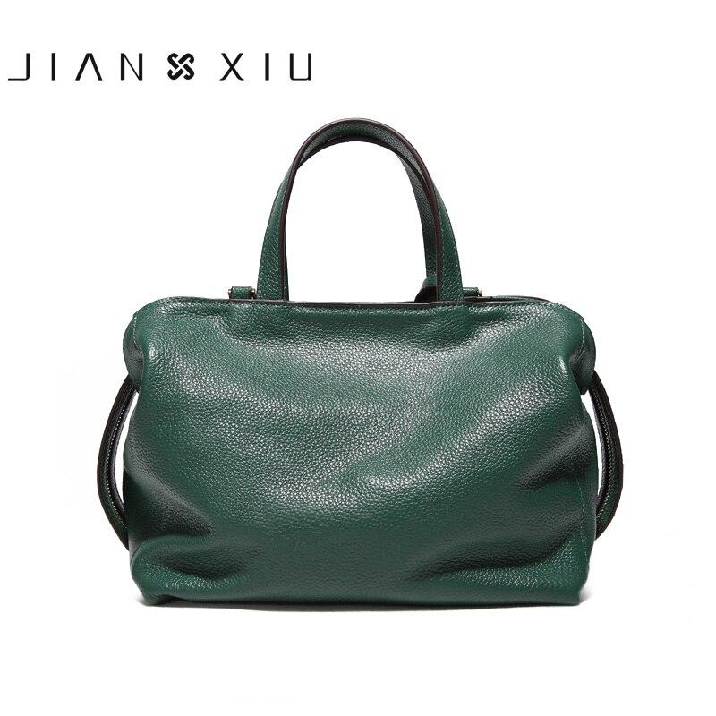 Jianxiu 정품 가죽 핸드백 럭셔리 핸드백 여성 가방 디자이너 숄더 백 2019 새로운 litchi 패턴 토트 작은 가방 2 색-에서탑 핸드백부터 수화물 & 가방 의  그룹 3
